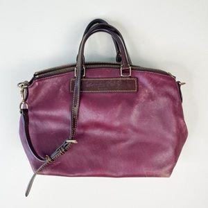 Vintage Dooney & Bourke Purse Bag Leather Maroon